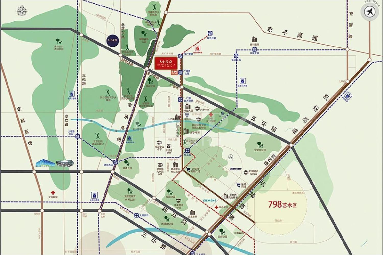 望京金茂府位置图