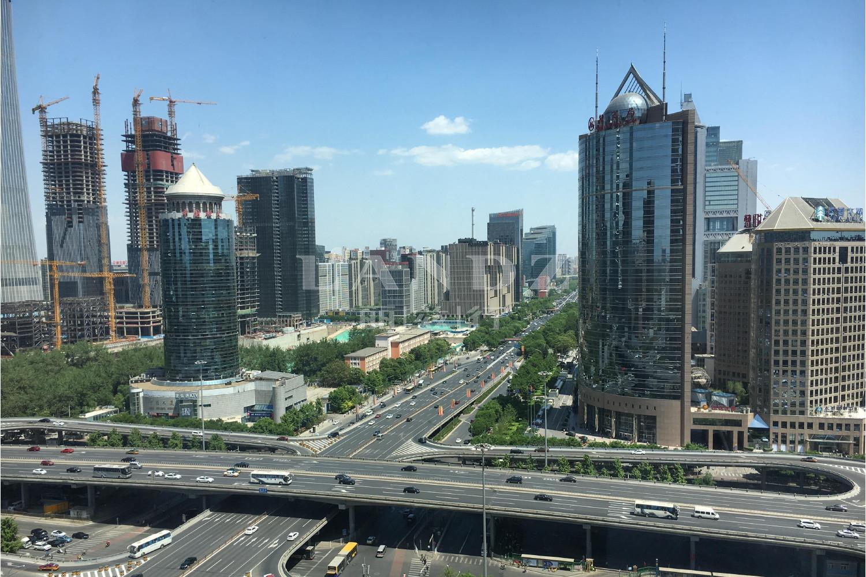 银泰中心实景图