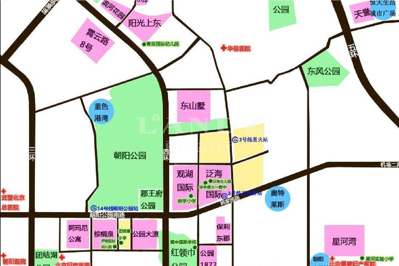 泛海国际香海园位置图
