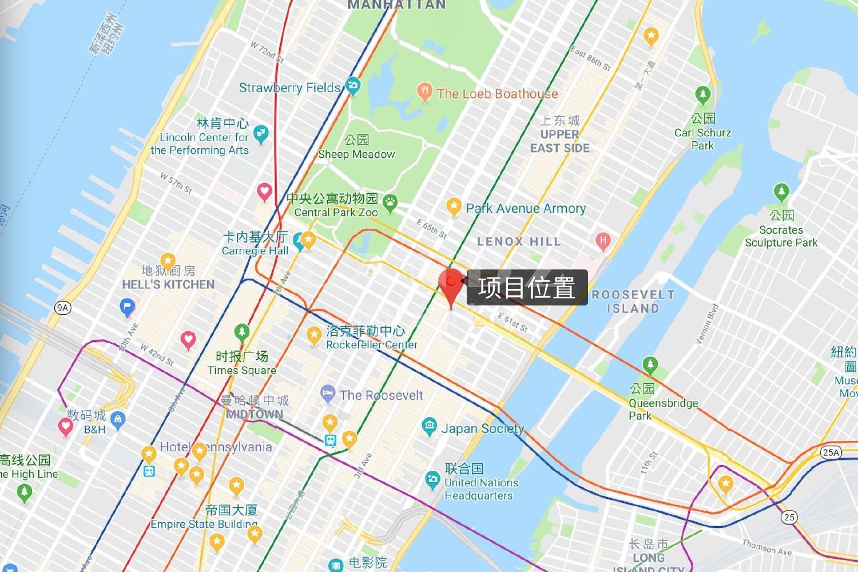 东59街200号海外房产位置图