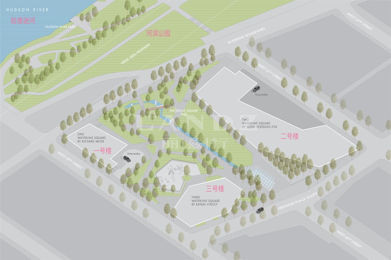 河滨广场海外房产位置图